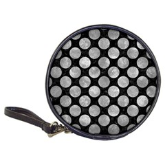 Circles2 Black Marble & Gray Metal 2 Classic 20 Cd Wallets by trendistuff