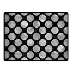 Circles2 Black Marble & Gray Metal 2 Fleece Blanket (small) by trendistuff