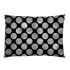 Circles2 Black Marble & Gray Metal 2 Pillow Case (two Sides) by trendistuff