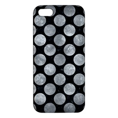 Circles2 Black Marble & Gray Metal 2 Apple Iphone 5 Premium Hardshell Case by trendistuff