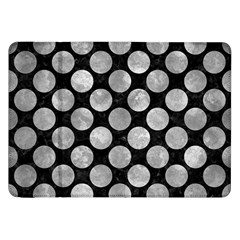 Circles2 Black Marble & Gray Metal 2 Samsung Galaxy Tab 8 9  P7300 Flip Case by trendistuff