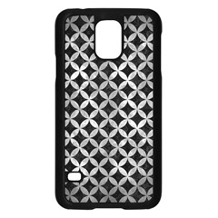 Circles3 Black Marble & Gray Metal 2 Samsung Galaxy S5 Case (black) by trendistuff