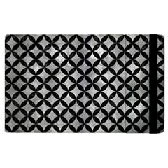 Circles3 Black Marble & Gray Metal 2 (r) Apple Ipad 2 Flip Case by trendistuff