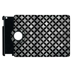 Circles3 Black Marble & Gray Metal 2 (r) Apple Ipad 3/4 Flip 360 Case by trendistuff