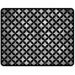 Circles3 Black Marble & Gray Metal 2 (r) Double Sided Fleece Blanket (medium)  by trendistuff