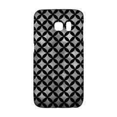 Circles3 Black Marble & Gray Metal 2 (r) Galaxy S6 Edge by trendistuff