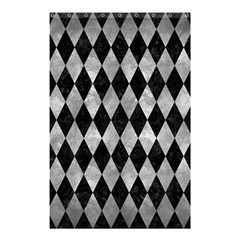 Diamond1 Black Marble & Gray Metal 2 Shower Curtain 48  X 72  (small)  by trendistuff