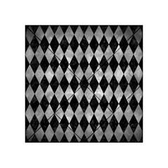 Diamond1 Black Marble & Gray Metal 2 Acrylic Tangram Puzzle (4  X 4 ) by trendistuff
