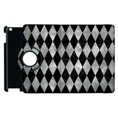 Diamond1 Black Marble & Gray Metal 2 Apple Ipad 2 Flip 360 Case by trendistuff