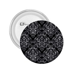 Damask1 Black Marble & Gray Metal 2 2 25  Buttons by trendistuff