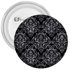 Damask1 Black Marble & Gray Metal 2 3  Buttons by trendistuff