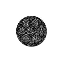 Damask1 Black Marble & Gray Metal 2 Golf Ball Marker (10 Pack) by trendistuff