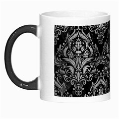 Damask1 Black Marble & Gray Metal 2 Morph Mugs by trendistuff
