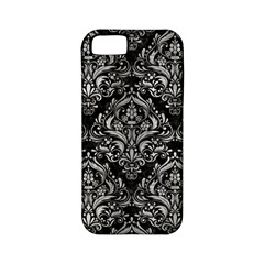 Damask1 Black Marble & Gray Metal 2 Apple Iphone 5 Classic Hardshell Case (pc+silicone) by trendistuff