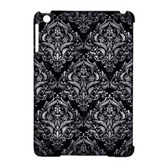 Damask1 Black Marble & Gray Metal 2 Apple Ipad Mini Hardshell Case (compatible With Smart Cover) by trendistuff