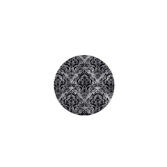 Damask1 Black Marble & Gray Metal 2 (r) 1  Mini Buttons