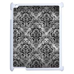 Damask1 Black Marble & Gray Metal 2 (r) Apple Ipad 2 Case (white) by trendistuff
