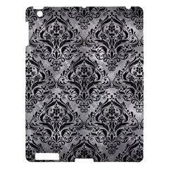 Damask1 Black Marble & Gray Metal 2 (r) Apple Ipad 3/4 Hardshell Case by trendistuff