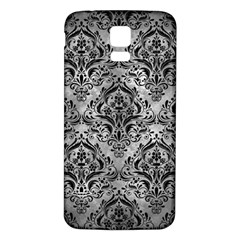 Damask1 Black Marble & Gray Metal 2 (r) Samsung Galaxy S5 Back Case (white) by trendistuff