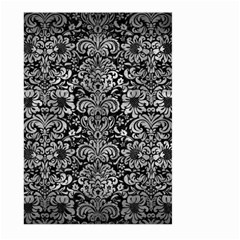Damask2 Black Marble & Gray Metal 2 Large Garden Flag (two Sides) by trendistuff