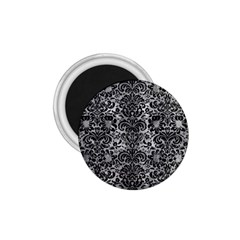 Damask2 Black Marble & Gray Metal 2 (r) 1 75  Magnets by trendistuff