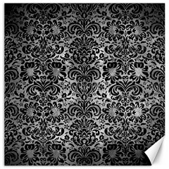 Damask2 Black Marble & Gray Metal 2 (r) Canvas 12  X 12   by trendistuff