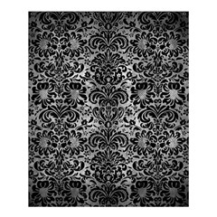 Damask2 Black Marble & Gray Metal 2 (r) Shower Curtain 60  X 72  (medium)  by trendistuff