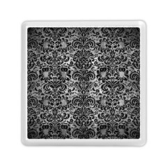 Damask2 Black Marble & Gray Metal 2 (r) Memory Card Reader (square)  by trendistuff
