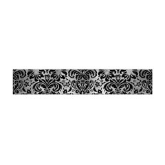 Damask2 Black Marble & Gray Metal 2 (r) Flano Scarf (mini) by trendistuff