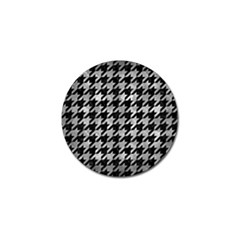 Houndstooth1 Black Marble & Gray Metal 2 Golf Ball Marker (10 Pack) by trendistuff