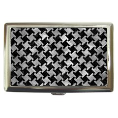 Houndstooth2 Black Marble & Gray Metal 2 Cigarette Money Cases