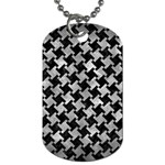 HOUNDSTOOTH2 BLACK MARBLE & GRAY METAL 2 Dog Tag (Two Sides) Back