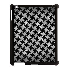 Houndstooth2 Black Marble & Gray Metal 2 Apple Ipad 3/4 Case (black) by trendistuff