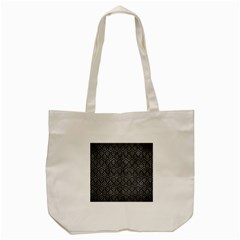 Hexagon1 Black Marble & Gray Metal 2 Tote Bag (cream) by trendistuff
