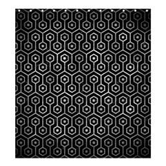 Hexagon1 Black Marble & Gray Metal 2 Shower Curtain 66  X 72  (large)  by trendistuff
