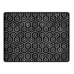 Hexagon1 Black Marble & Gray Metal 2 Fleece Blanket (small) by trendistuff