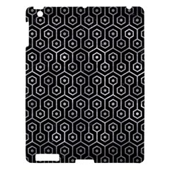 Hexagon1 Black Marble & Gray Metal 2 Apple Ipad 3/4 Hardshell Case by trendistuff