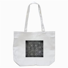 Hexagon1 Black Marble & Gray Metal 2 (r) Tote Bag (white) by trendistuff