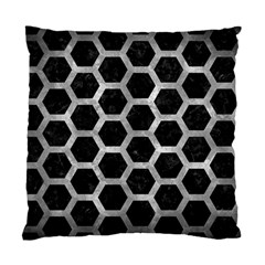 Hexagon2 Black Marble & Gray Metal 2 Standard Cushion Case (two Sides) by trendistuff