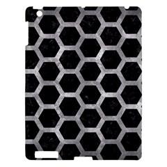 Hexagon2 Black Marble & Gray Metal 2 Apple Ipad 3/4 Hardshell Case by trendistuff