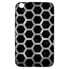 Hexagon2 Black Marble & Gray Metal 2 Samsung Galaxy Tab 3 (8 ) T3100 Hardshell Case  by trendistuff