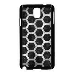 Hexagon2 Black Marble & Gray Metal 2 Samsung Galaxy Note 3 Neo Hardshell Case (black) by trendistuff