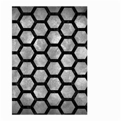 Hexagon2 Black Marble & Gray Metal 2 (r) Small Garden Flag (two Sides)