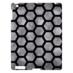Hexagon2 Black Marble & Gray Metal 2 (r) Apple Ipad 3/4 Hardshell Case by trendistuff
