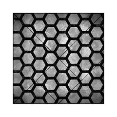 Hexagon2 Black Marble & Gray Metal 2 (r) Acrylic Tangram Puzzle (6  X 6 ) by trendistuff