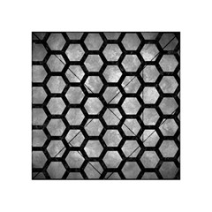 Hexagon2 Black Marble & Gray Metal 2 (r) Acrylic Tangram Puzzle (4  X 4 ) by trendistuff