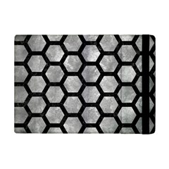 Hexagon2 Black Marble & Gray Metal 2 (r) Ipad Mini 2 Flip Cases by trendistuff