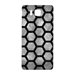 Hexagon2 Black Marble & Gray Metal 2 (r) Samsung Galaxy Alpha Hardshell Back Case by trendistuff