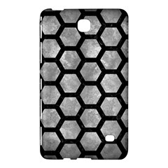 Hexagon2 Black Marble & Gray Metal 2 (r) Samsung Galaxy Tab 4 (7 ) Hardshell Case  by trendistuff