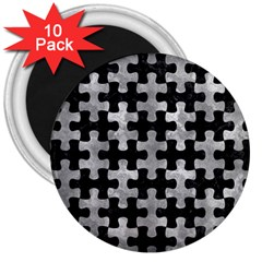 Puzzle1 Black Marble & Gray Metal 2 3  Magnets (10 Pack)  by trendistuff